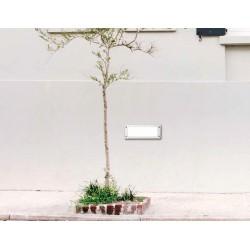 Απλίκα Εξωτερικού Χώρου Slim Χωνευτή Λευκή 1X60W E27 IP66 - LETI 300 FUMAGALLI