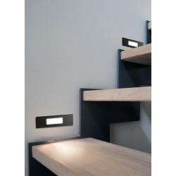 Απλίκα Εξωτερικού Χώρου Slim Χωνευτή Σε Γκρι Χρώμα LED 1 X 4W R7S IP55 - NINA FUMAGALLI