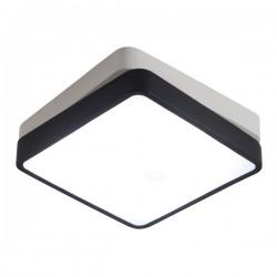 LED Πλαφονιέρα Μεταλλική Τετράγωνη Μαύρη 36W - SpotLight