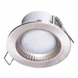 LED Χωνευτό Οροφής Στεγανό Σε Δύο Χρώματα Στρογγυλό 5W 450lm 120° IP54 Spotlight