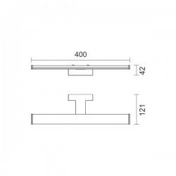 LED Απλίκα Μπάνιου Μεταλλική Σε Χρώμιο 8W 720lm 160° IP44 - SpotLight
