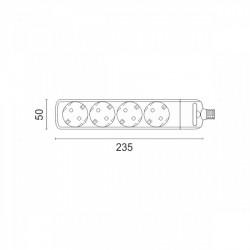 Cordless Power Strip 4x Sockets - Spotlight