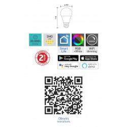 LED lamp E27 SMART WiFi 9W RGB - Spotlight
