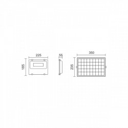 Solar Projector LED SMD 50W 6000K IP65 With Sensor - Spotlight