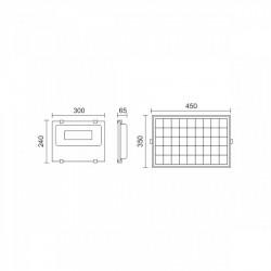 Solar Projector LED SMD 200W 6000K IP65 With Sensor - Spotlight