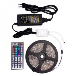 LED Tape 14.4W SMD 12V 930lm Waterproof IP65 RGB With Control - 5 Meters In Blister Spotlight