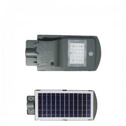 High Power LED Solar Φωτιστικό Δρόμου Ηλιακό 20W 120° IP65 - SpotLight