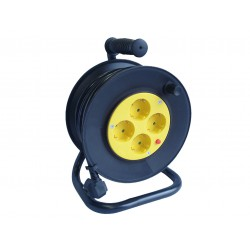 Cable Reel, Closed Type With Overheating Protection 25m- Spotlight
