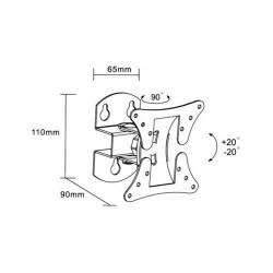 TV13-27 base '' DIVIDED SINGLE Rotating 60 ° LCD501 (401) SILVER LLC - Top Electronics