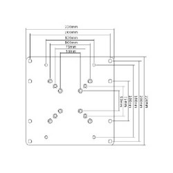 "TV Base ADAPTER 23*42"" LCD-201C Silver LLC - Top Electronics"