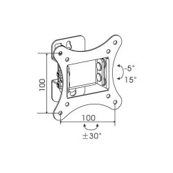 TV 10-24 '' Stand Split Single Rotating 60 ° WLB-011 Silver EOL LCT