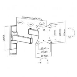 TV Stand 13-27 '' Split Monastery Rotating 90 ° KLA26-112 LLC - Top Electronics