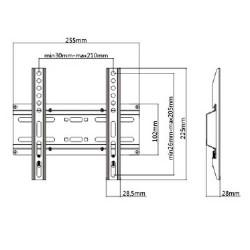 Base TV23-42 '' FIXED 35kg KL25-22F LLC - Top Electronics