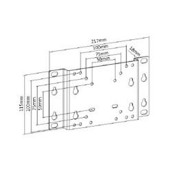 "TV Base 13-32"" 30kg LCD-202 Silver LLC - Top Electronics"