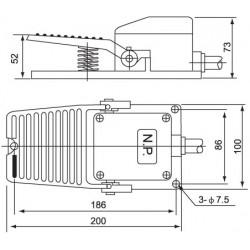 Ποδοδιακόπτης Μεταλλικός 15A SFM-1 (CFS-402) CNTD - Top Electronic