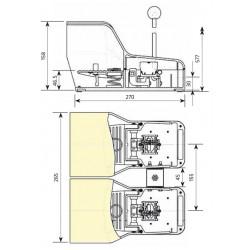 Ποδοδιακόπτης Θερμοπλαστικός Διπλός Με Ασφάλεια 16A IP7018 GIOVENZANA - Top Electronic