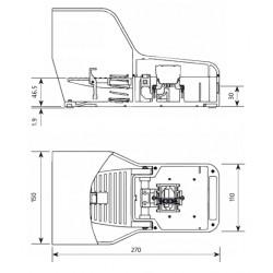 Ποδοδιακόπτης Θερμοπλαστικός 2 Ταχυτήτων Με Ασφάλεια 16A IP7015 GIOVENZANA - Top Electronic