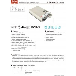 2400W Power Supply with Single Output RSP-2400 48V