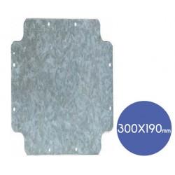 Elettrocanali Metal plate 300mm x 190mm - Elettrocanali