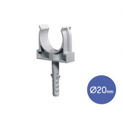 Conduit Clip With Plug And Steel Screw D20  - Elettrocanali