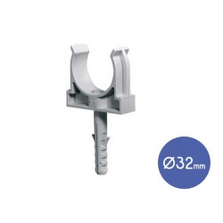 Conduit Clip With Plug And Steel Screw D32 - Elettrocanali