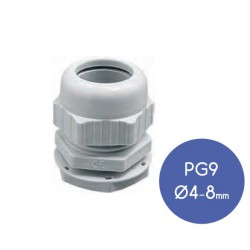 Cable Terminal Grey IP68 PG9 - Elettrocanali