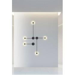 LED Απλίκα Αλουμινίου Σε Μαύρο Χρώμα 2x3W 480lm - Zambelis Lights