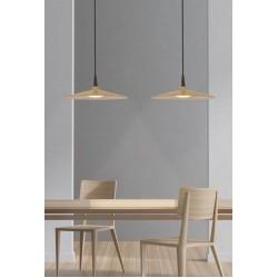 LED Κρεμαστό Φωτιστικό Από Φυσικό Ξύλο 8W - Zambelis Lights