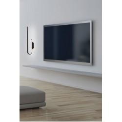LED Απλίκα Μεταλλική Σε Μαύρο Χρώμα 18W DIMMABLE - Zambelis Lights