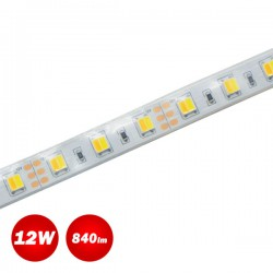 5 Meters Of Led Strip 12W 12V DC IP65 Water Resistant By Switching Heat - Cold Lighting  ACA