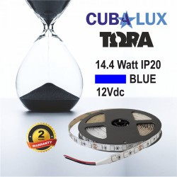 Led Strip 14.4W 12V IP20 TΩRA COLORS 5m BLUE CUBALUX