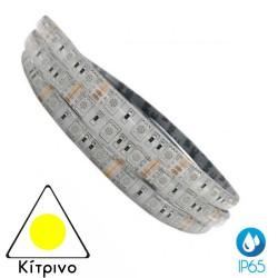 5 Meters Of Led Strip 14.4W 12V DC IP65 Water Resistant Yellow ACA