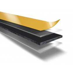 DUPLOCOLL 5016 Black foam tape with Yellow Liner 8mm x 50m - Lohmann
