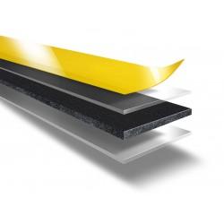 DUPLOCOLL 97715.4 AP Black foam tape with Yellow Liner 23mm x 5m - Lohmann