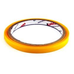 DUPLOCOLL 378 FG - TRANSPARENT Polypropylene tape with Yellow Liner 8mm x 5m - Lohmann