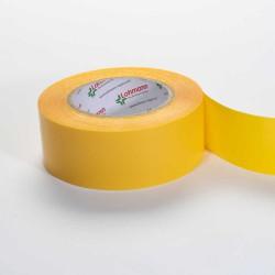 DUPLOCOLL 378 FG - TRANSPARENT Polypropylene tape with Yellow Liner 8mm x 50m - Lohmann