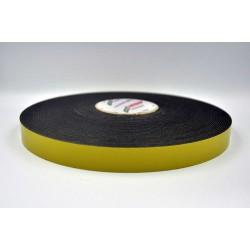 DUPLOCOLL 910 F BLACK foam tape with Yellow Liner 8mm x 50m - Lohmann