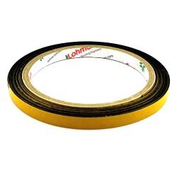 DUPLOCOLL 5016 Black foam tape with Yellow Liner 8mm x 5m - Lohmann