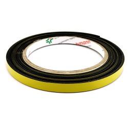 DUPLOCOLL 910 F BLACK foam tape with Yellow Liner 8mm x 5m - Lohmann