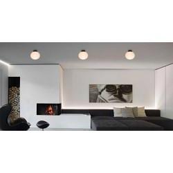 Ceiling Light Metallic And Opal Glass 1x E27 AΝGELO VIOKEF