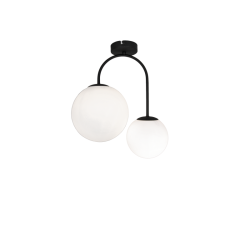Ceiling Lights In Black Color - 2x E14 42W max ANOUK - Viokef