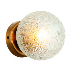 Ceiling Light With Clear or Amber Glass - 1x E27 40W max ESTER - Viokef