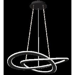 LED Κρεμαστό Φωτιστικό Μεταλλικό Μαύρο D:620 50W CHARLIE VIOKEF