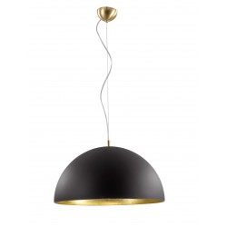 Pendant Lighting Glass In Satin In Black And Gold 1xE27 Dome VIOKEF
