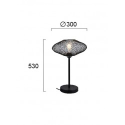 Table Lamp Metallic Black 1x E27 40W ELECTRA - VIOKEF