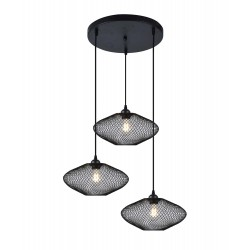 Pendant Three - Lights Metallic Black 3x E27 40W ELECTRA - VIOKEF