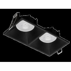 Recessed Spot In Black Or White Color 2x GU10 35W FINO VIOKEF