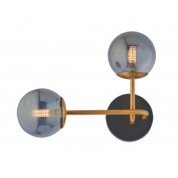 Wall Light From Metal And Glass In Gold Color 2x G9 40W FIORE - VIOKEF