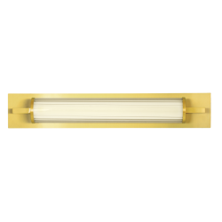 LED Wall Light In Glass White-Gold 8W FRIDA VIOKEF