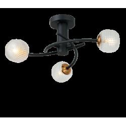 Ceiling Light Metallic With Glass 3x G9 IFIGENIA - Viokef